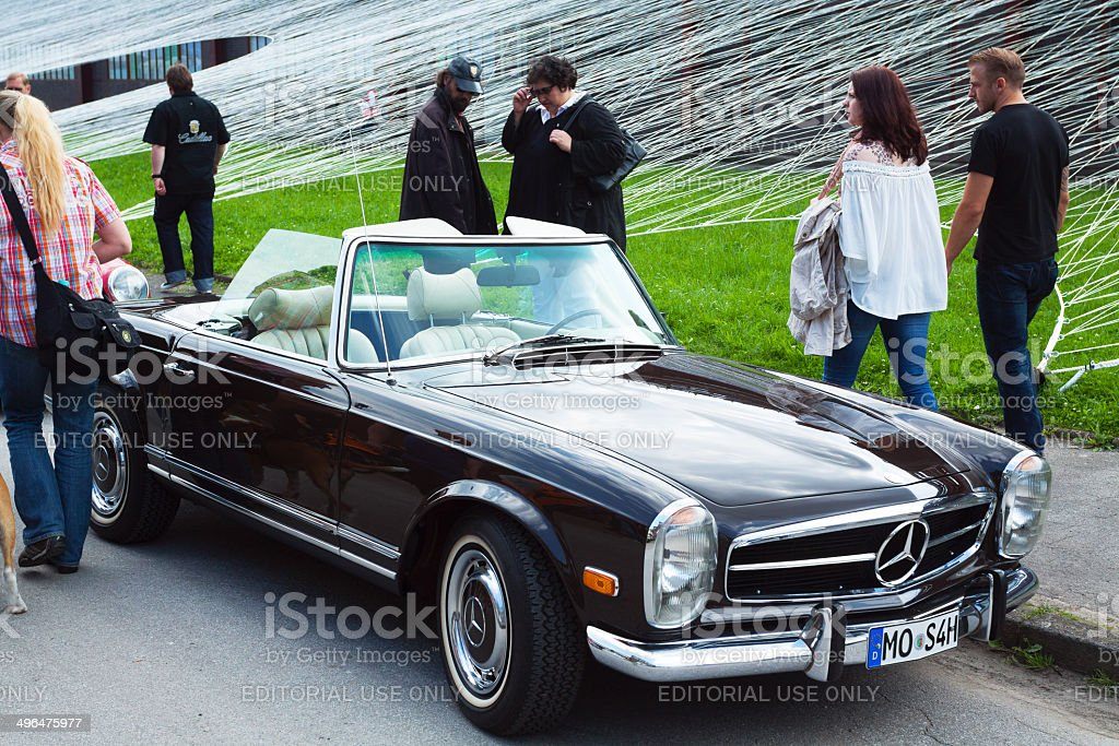 Old Mercedes Sl 280 Convertible Car Stock Photo & More Pictures of ...