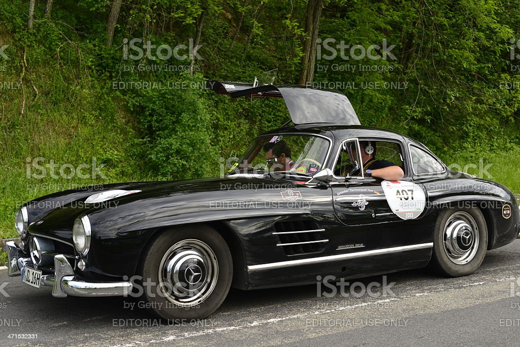 Old Mercedesbenz Car Running In Mille Miglia Race Stock Photo & More ...
