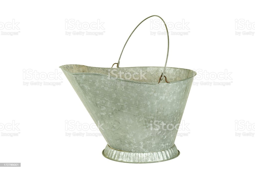 Old Metal Bucket royalty-free stock photo