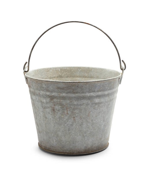 Old Metal Bucket stock photo