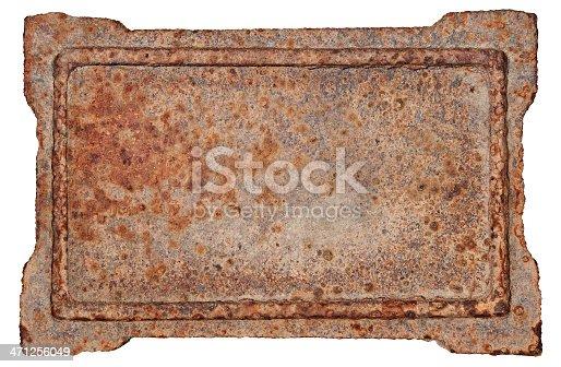 1058533662 istock photo Old metal frame on white background 471256049