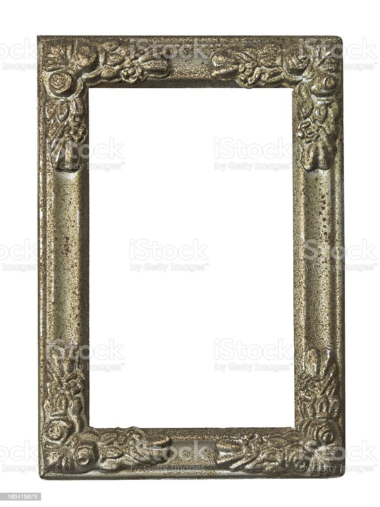 Old metal frame royalty-free stock photo