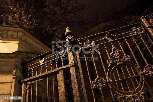 Old forged metal gates.