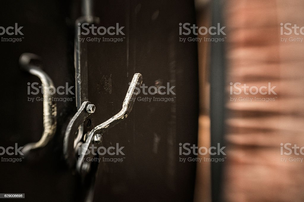 Old metal handle stock photo