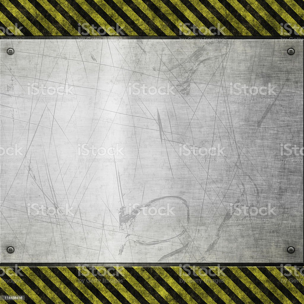 old metal hazard background royalty-free stock photo