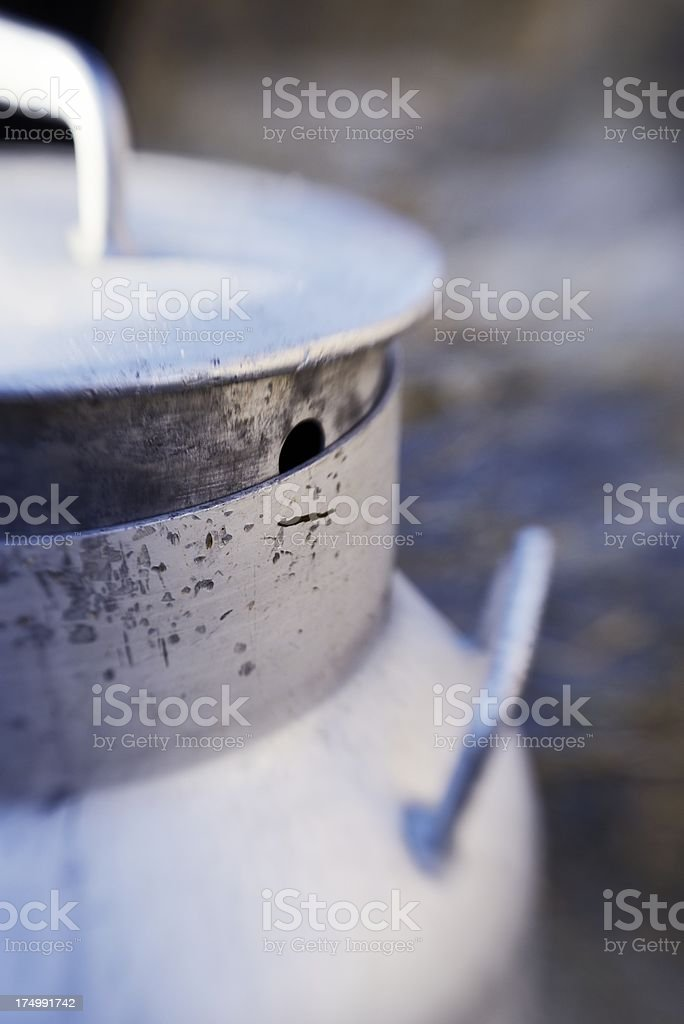 Old Metal Milk Churn royalty-free stock photo