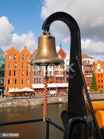 501889762istockphoto Old metal naval bell on a army ship 834783560