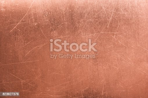 istock old metal plate, brushed texture copper, bronze background 823627376
