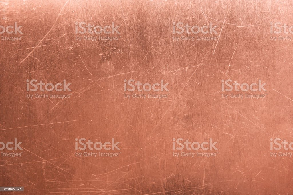 old metal plate, brushed texture copper, bronze background stock photo