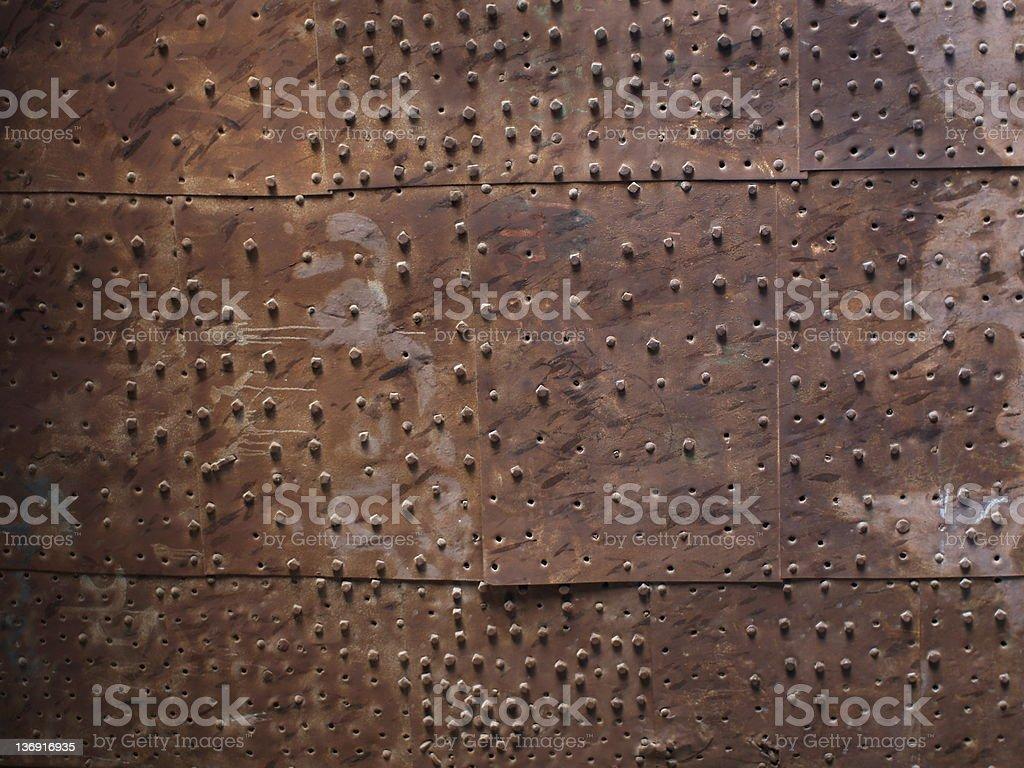 Old metal plate door stock photo