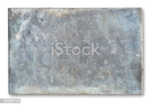 istock Old Metal Plate 182880723