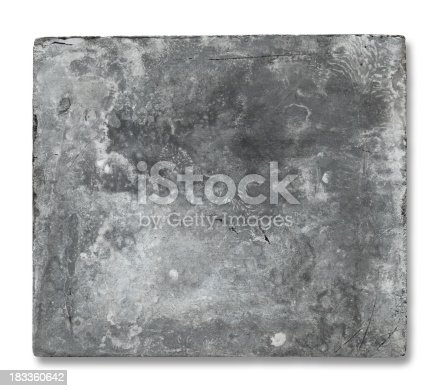 istock Old Metal Plate 183360642