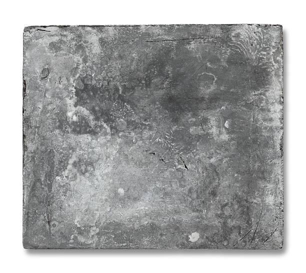 vecchia placca in metallo - acquaforte foto e immagini stock