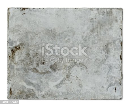 istock Old Metal Plate 480607445