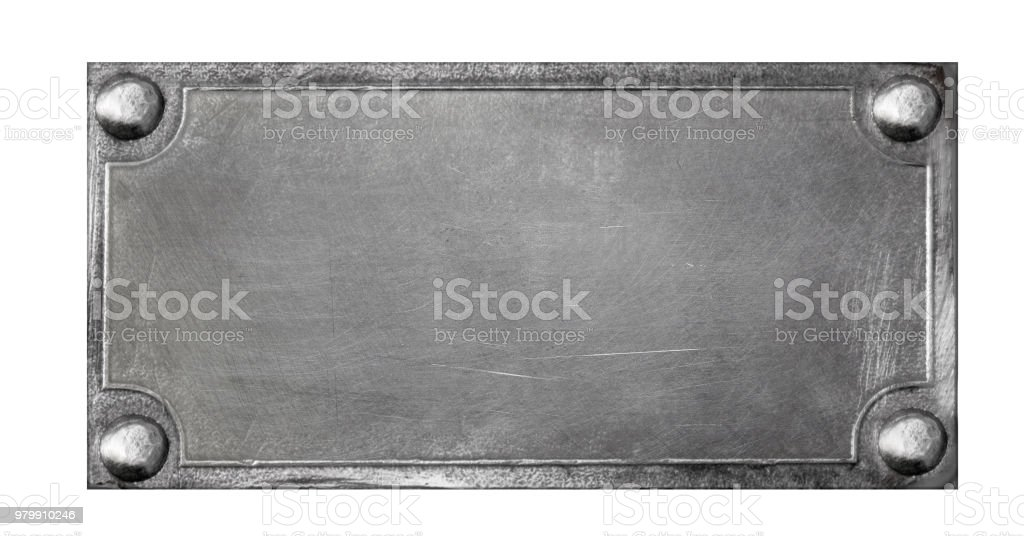 Alte Metall-Teller mit Nieten – Foto