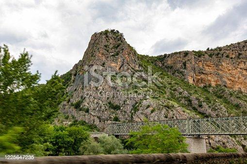 Old metal railway bridge of Anduze typical of the industrial revolution
