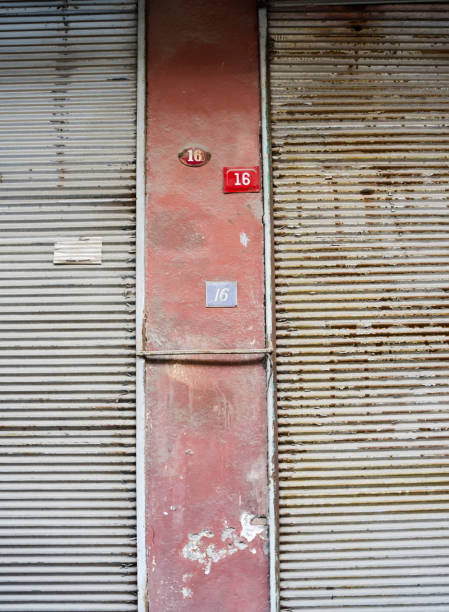 Old Metal Rolling Shutter stock photo