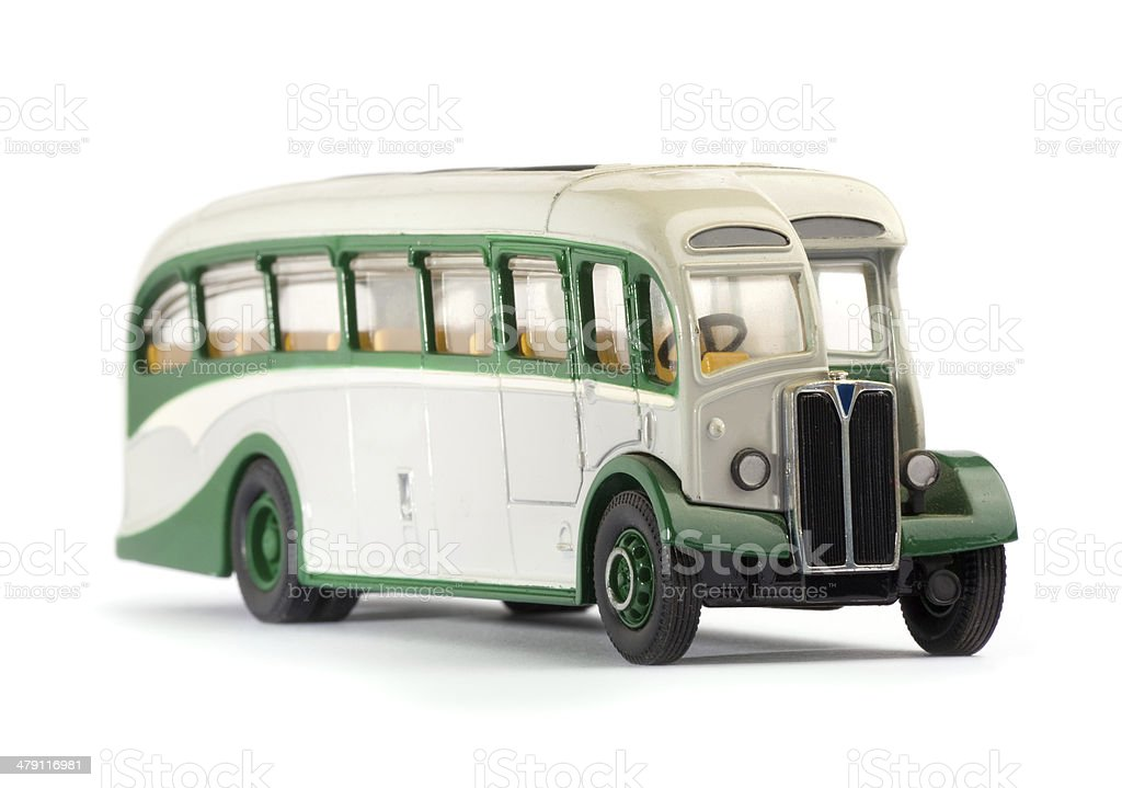 Old metal scale model of a public bus - Royalty-free 1950-1959 Stock Photo