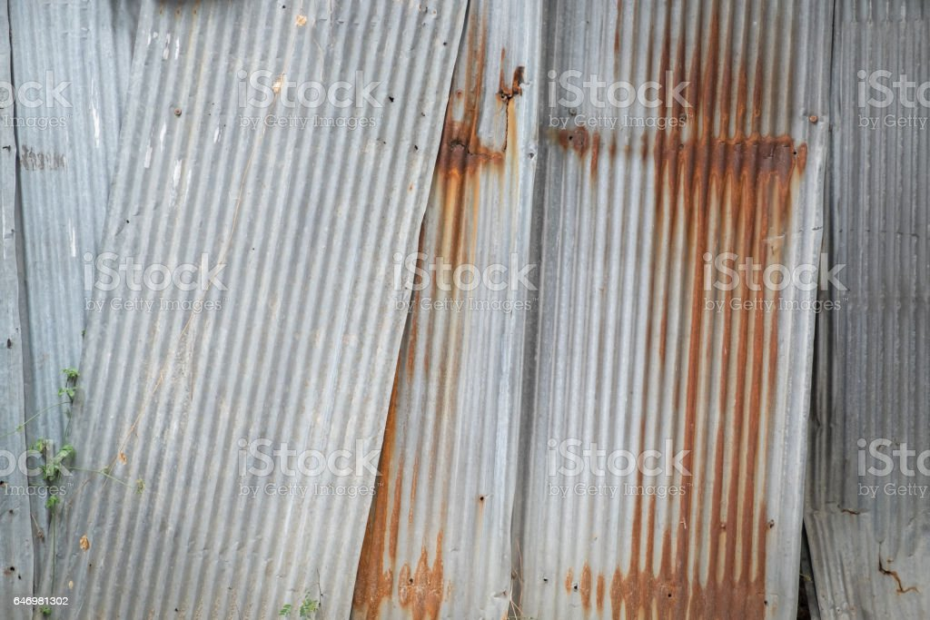 Old Metal Sheet Roof Texture Pattern Of Old Metal Sheet Metal Sheet ...