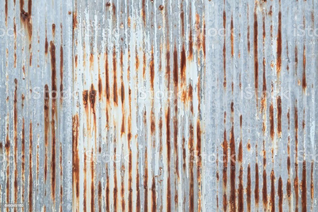 Old metal sheet roof texture. Pattern of old metal sheet. stock photo