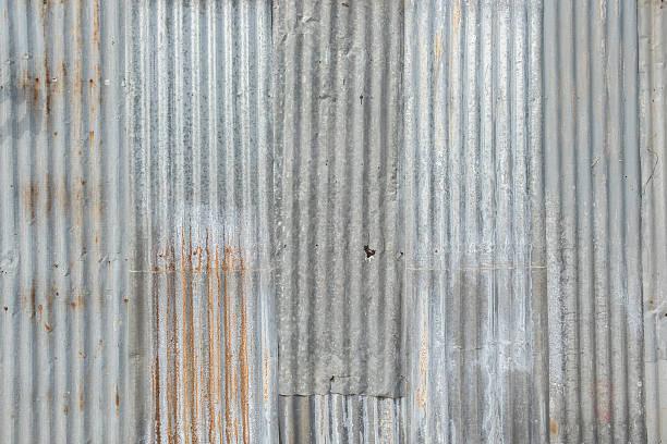 old metal sheet roof texture. - blech stock-fotos und bilder