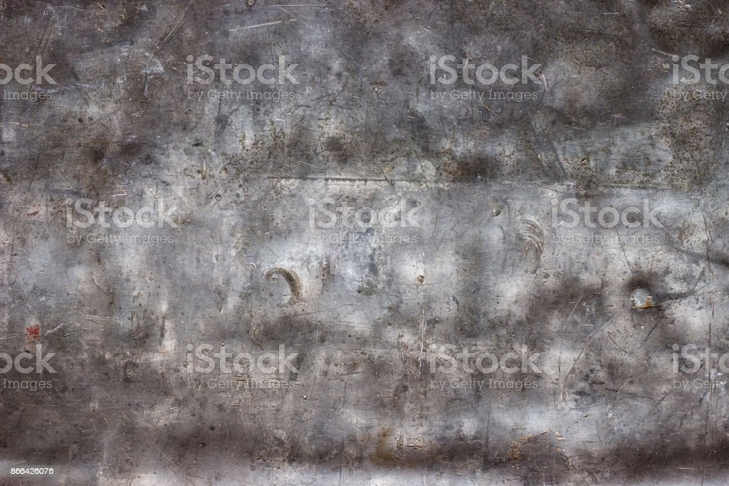 Old metal surface of stainless steel or aluminum as wallpaper - Stock image .