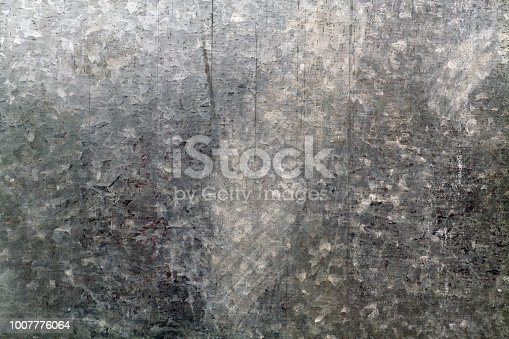 istock Old metal surface with scratches. 1007776064