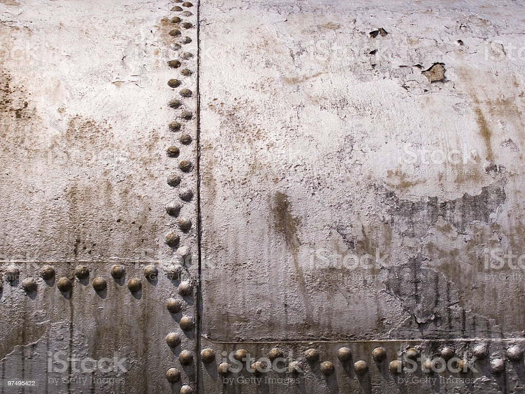 old metal tank with rivets royalty-free stock photo