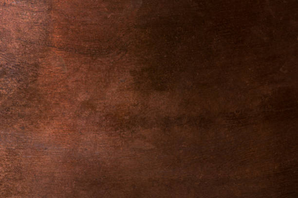 Old metal texture - copper closeup. Background Old metal texture - copper closeup. Background brown stock pictures, royalty-free photos & images