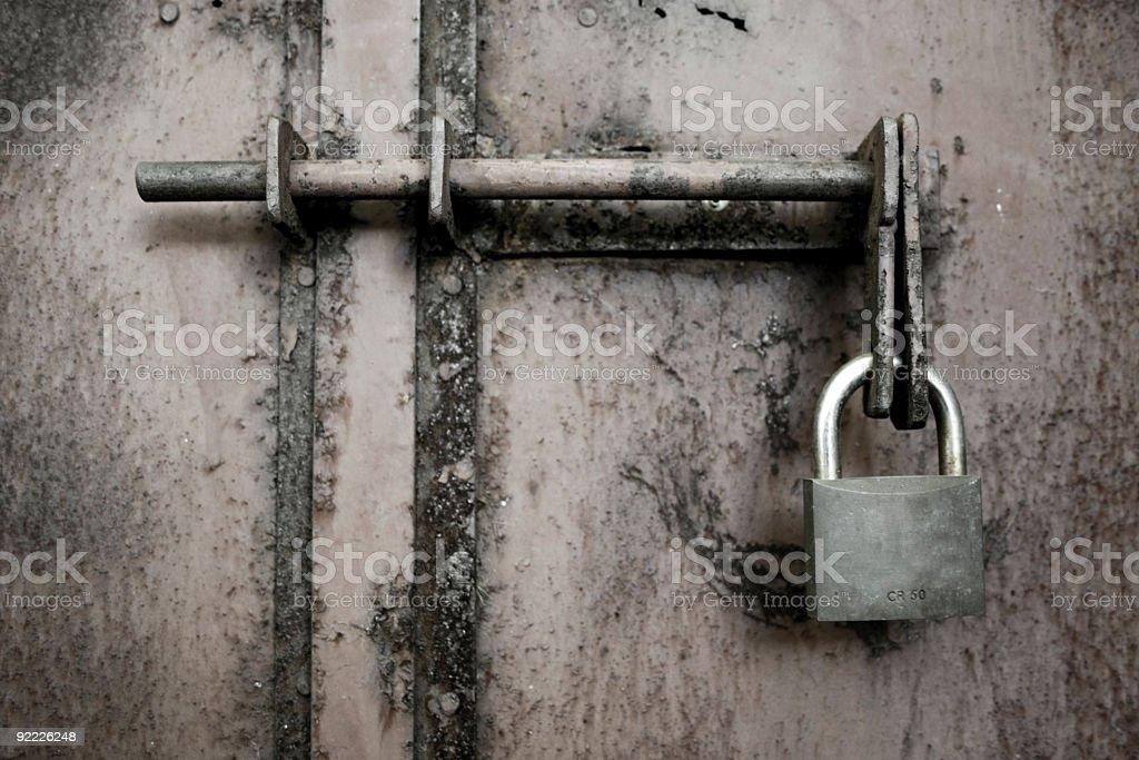 Old metal textured door. royalty-free stock photo