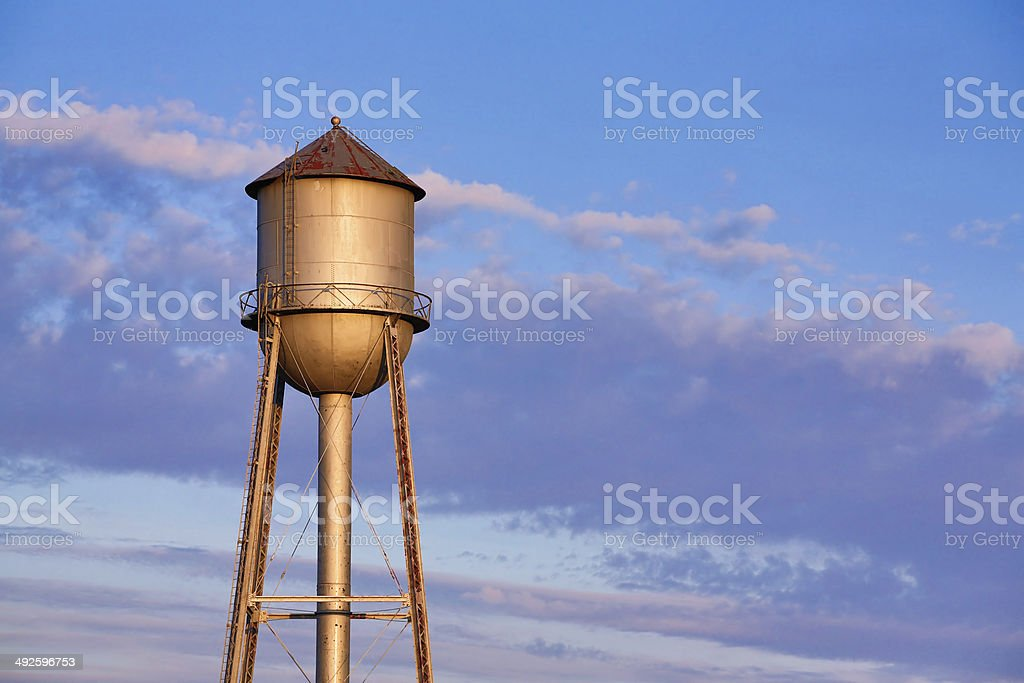 Old Metal Water Tower stock photo
