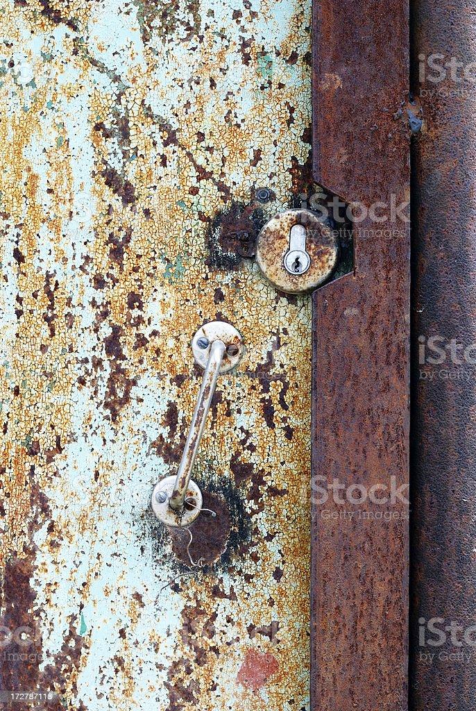 old metall door royalty-free stock photo