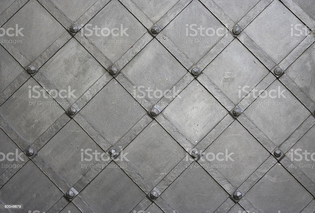 old metallic gates background stock photo