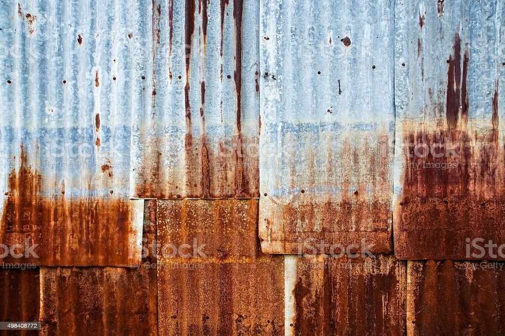 Old metalsheet wall stock photo