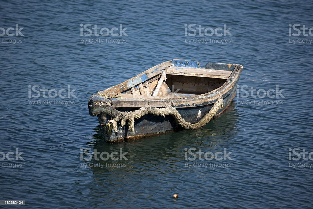 Old Mexican Fishing Skiff, Grunge royalty-free stock photo