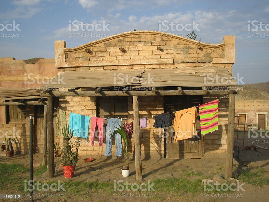 Old  Mexican House...:::Far West Series'::.. royalty-free stock photo