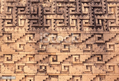 istock Old Mexican ruin relief 666146936