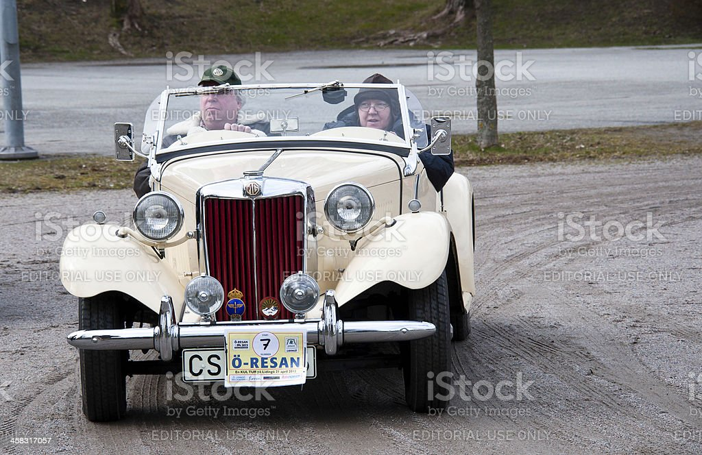 Old MG sport car royalty-free stock photo