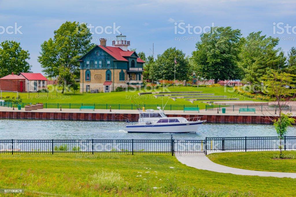Alten Michigan City Waterfront und Leuchtturm, Indiana (P) – Foto