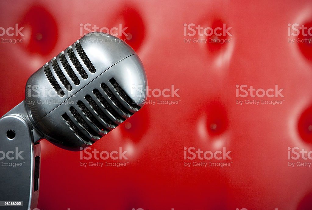 Old microphone royalty-free stock photo