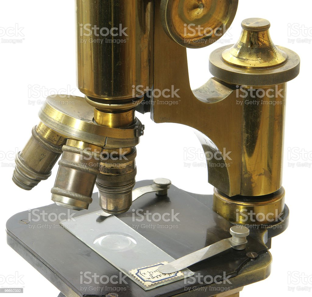 Old microscope royalty-free stock photo