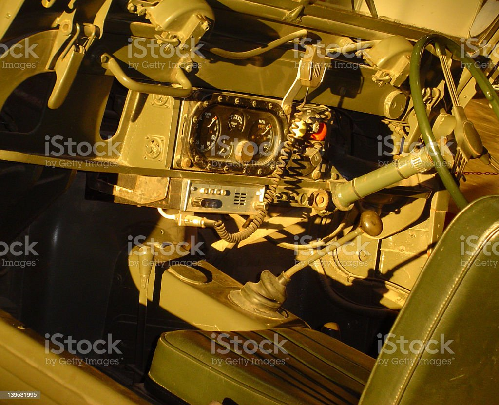 Old military 4x4 vehicle stock photo