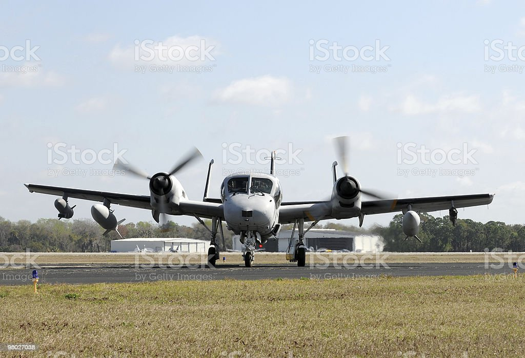 Old military airplane royalty-free stock photo