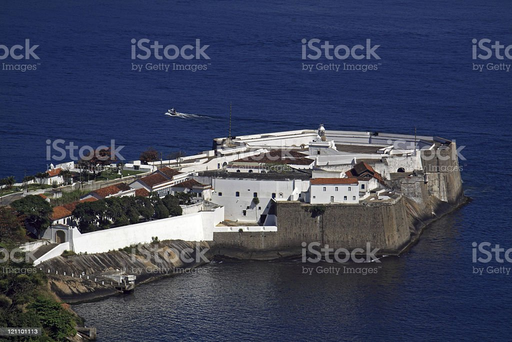 Old military fortification stock photo