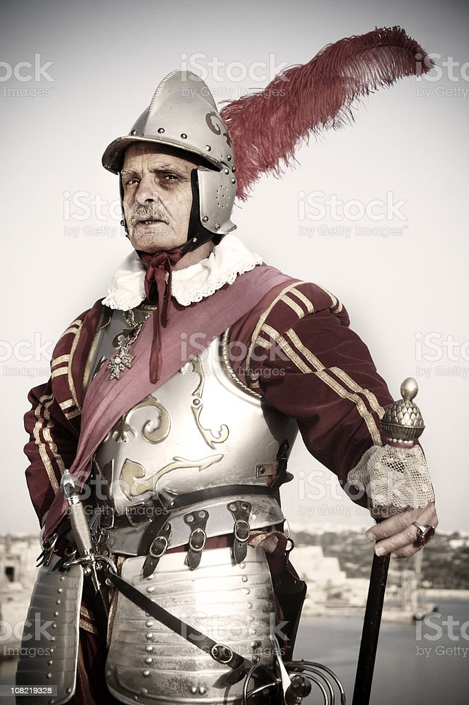 Old Military General royalty-free stock photo