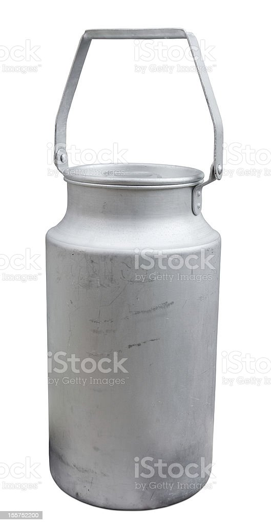 Old milk can. royalty-free stock photo