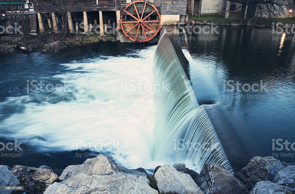 Old Mill in Pigeon Forge stock photo