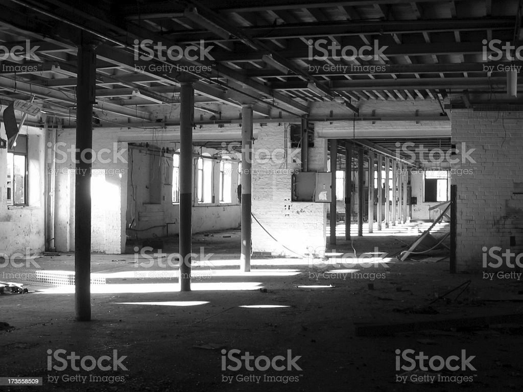 Old mill - interior perspective royalty-free stock photo