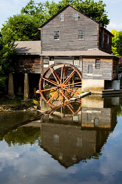 Old Mill The Pigeon Forge Mill, commonly called the Old Mill, is a historic gristmill in the U.S. city of Pigeon Forge, Tennessee pigeon forge stock pictures, royalty-free photos & images