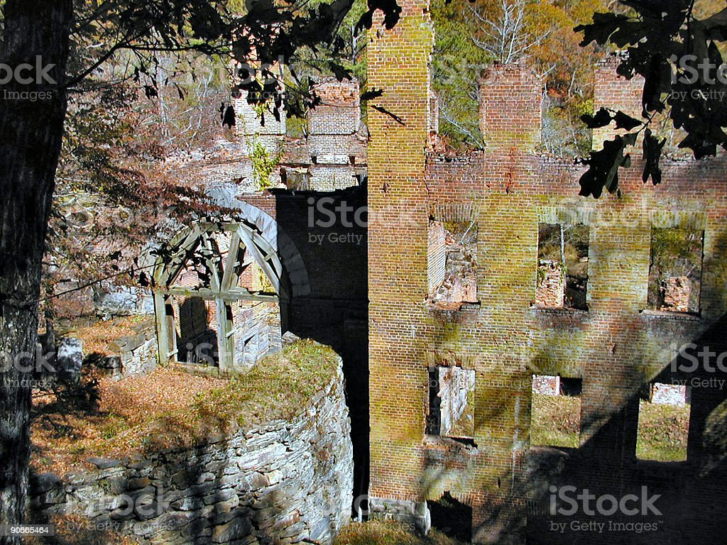 Old Mill Ruins royalty-free stock photo